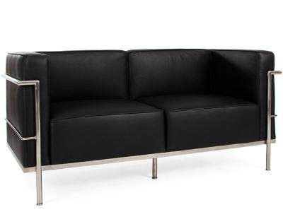 Bild Designer-Möbel LC2 - 2 Sitzer breit - Schwarz