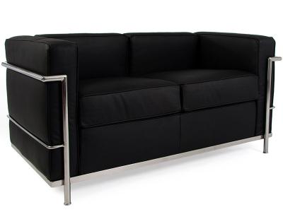 Bild Designer-Möbel LC2 2-Sitzer Sofa Le Corbusier - Schwarz