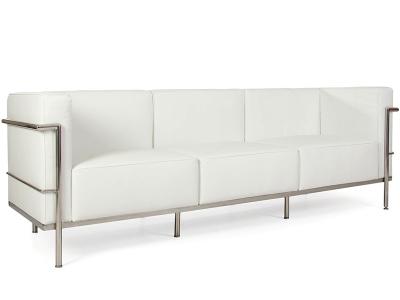 Bild Designer-Möbel LC2 3 Sitzer Le Corbusier Breit - Weiß