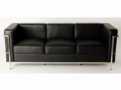 kubus sofa 2 sitzer schwarz als reproduktion. Black Bedroom Furniture Sets. Home Design Ideas