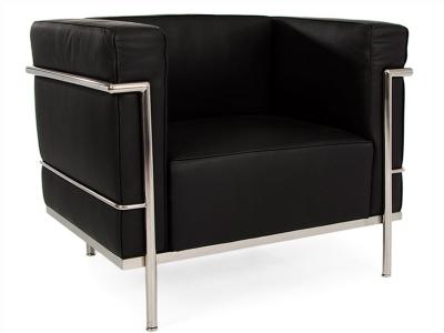 Bild Designer-Möbel LC2 Sessel Breit Le Corbusier-Schwarz