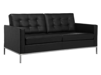 Bild Designer-Möbel Lounge Knoll 2 Sitzer- Schwarz