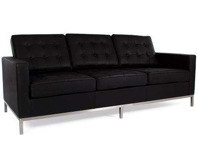 Bild Designer-Möbel Lounge Knoll 3 Sitzer - Schwarz