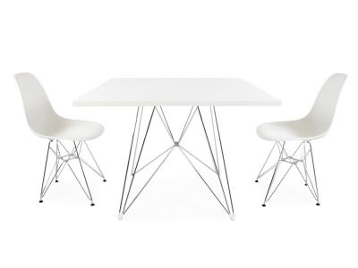 Bild Designer-Möbel Quadratischen Tisch Eiffel mit 2 Stühlen