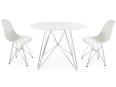 Bild Designer-Möbel Runder Tisch Eiffel mit 2 Stühlen