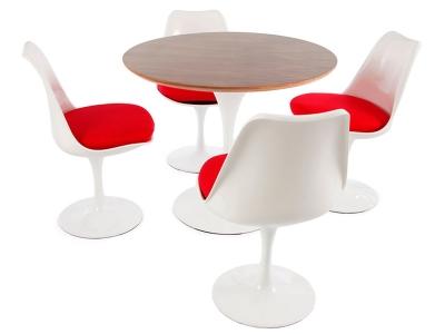 Bild Designer-Möbel Tulip Tisch Saarinen mit 4 Stühlen