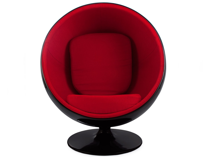 Bild von Stuhl-Design Ball Sessel Eero Aarnio - Rot