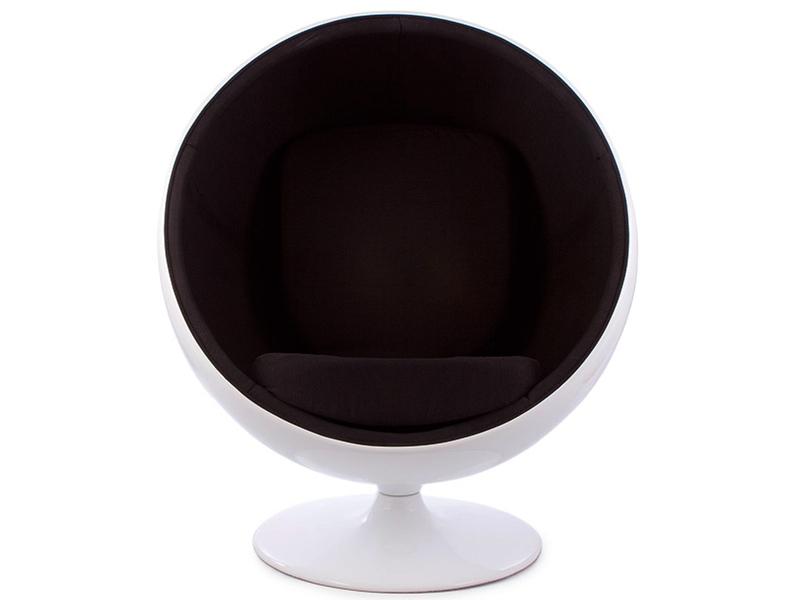 Bild von Stuhl-Design Ball Sessel Eero Aarnio - Schwarz
