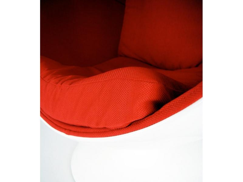 Bild von Stuhl-Design Ball Sessel- Weiß /Rot