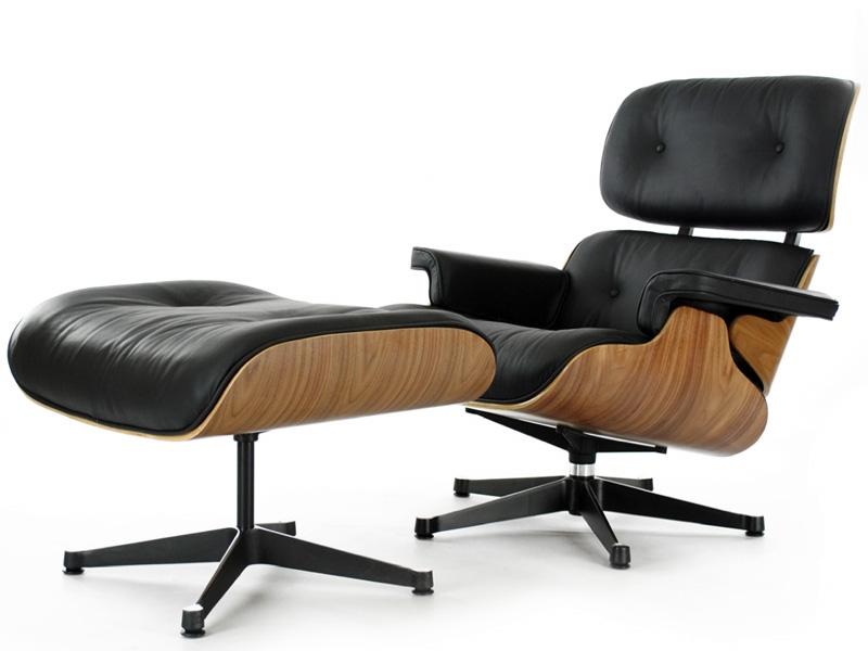 Bild von Stuhl-Design Eames Lounge Sessel - Nußbaum