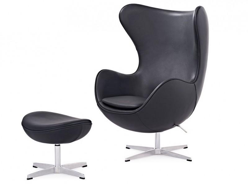 Bild von Stuhl-Design Egg Chair & Ottoman Arne COSYSEN - Schwarz