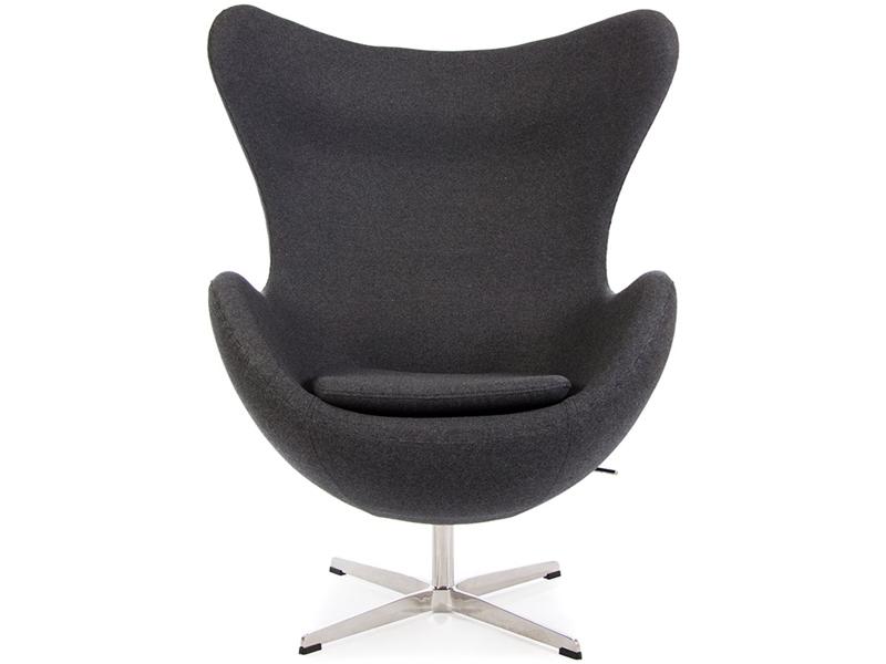Bild von Stuhl-Design Egg Sessel AJ - Dunkelgrau