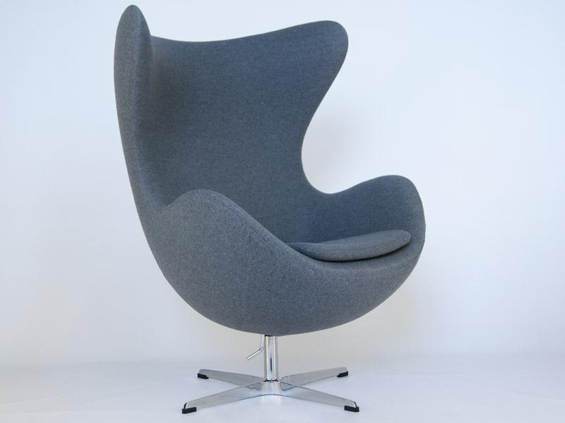 Bild von Stuhl-Design Egg Sessel AJ - Grau