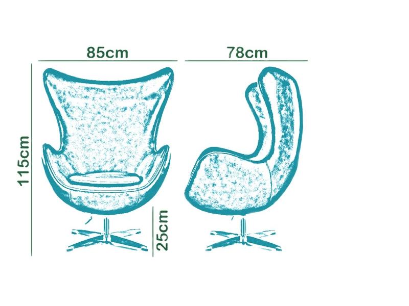 Bild von Stuhl-Design Egg Sessel AJ - Türkis