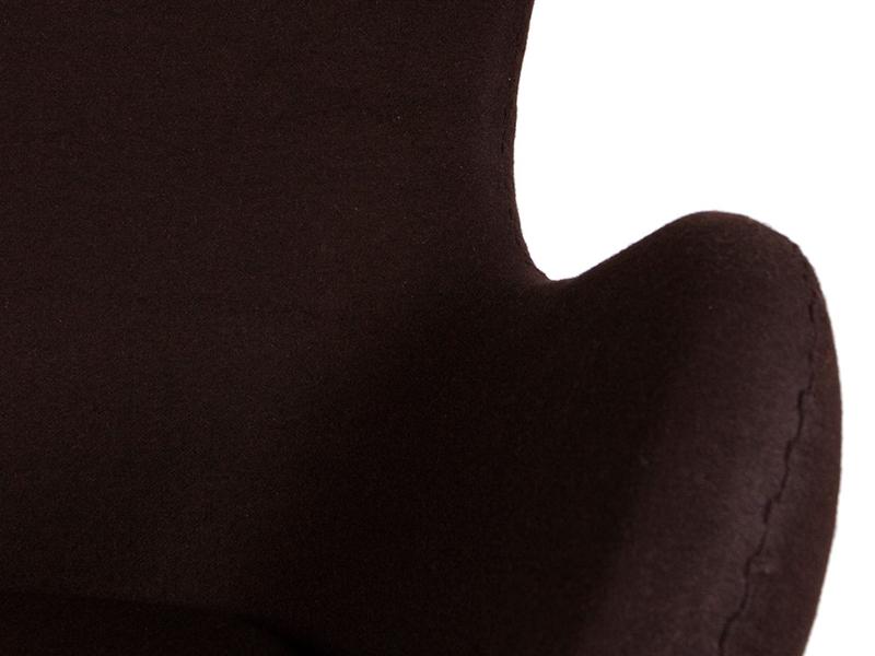 Bild von Stuhl-Design Egg Sessel Arne Jacobsen - Braun
