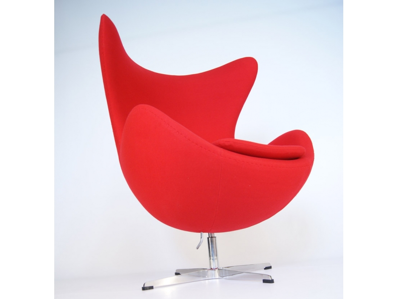 Egg sessel arne jacobsen rot for Sessel jacobsen