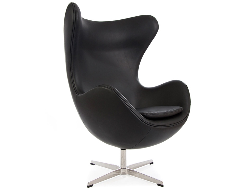egg sessel arne jacobsen schwarz. Black Bedroom Furniture Sets. Home Design Ideas