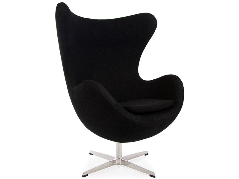 egg sessel von arne jacobsen in schwarz. Black Bedroom Furniture Sets. Home Design Ideas