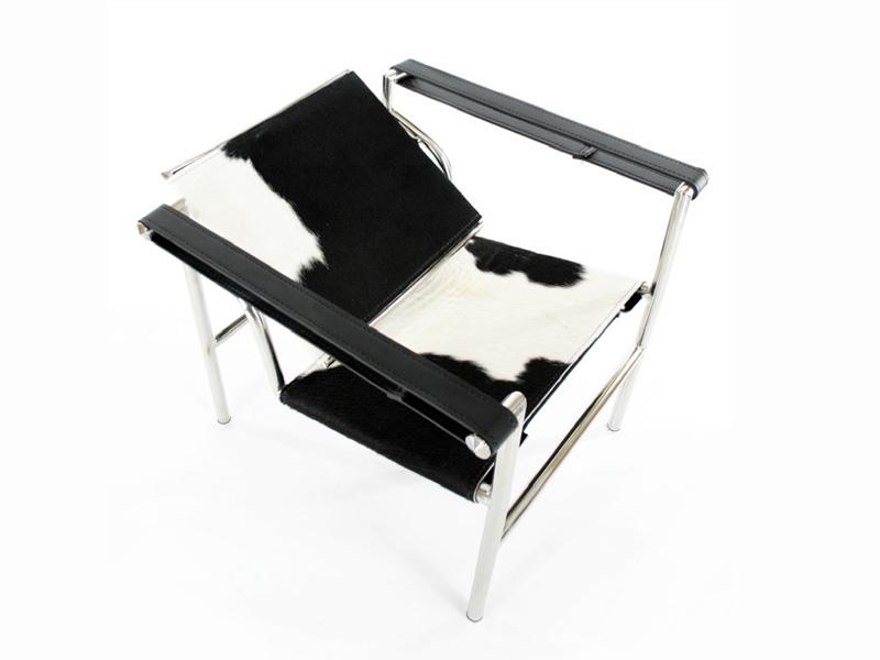 Bild von Stuhl-Design LC1 Stuhl Le Corbusier - Pony Schwarz