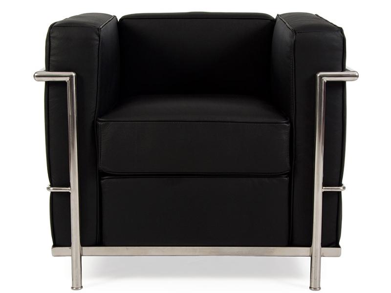 lc2 sessel le corbusier schwarz. Black Bedroom Furniture Sets. Home Design Ideas
