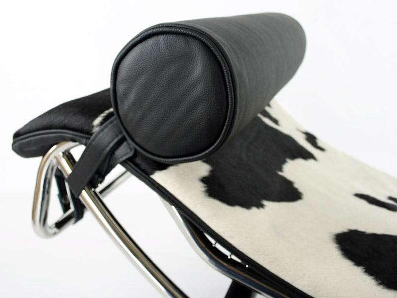 Bild von Stuhl-Design LC4 Liege - Pony Schwarz/Weiß