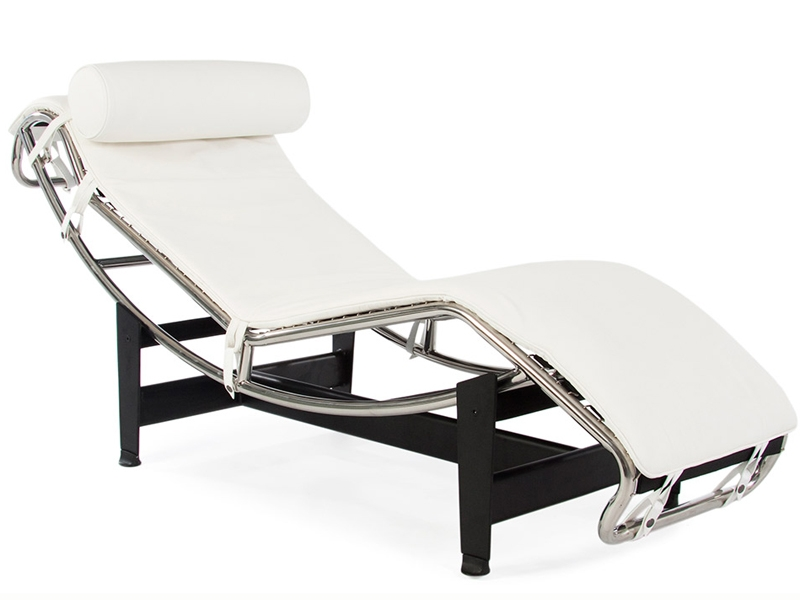 Bild von Stuhl-Design Le Corbusier LC4 Liege (Chaiselongue) - Weiß