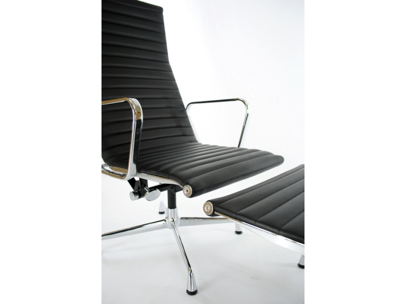 Lounge stuhl ea124 schwarz for Design lounge stuhl