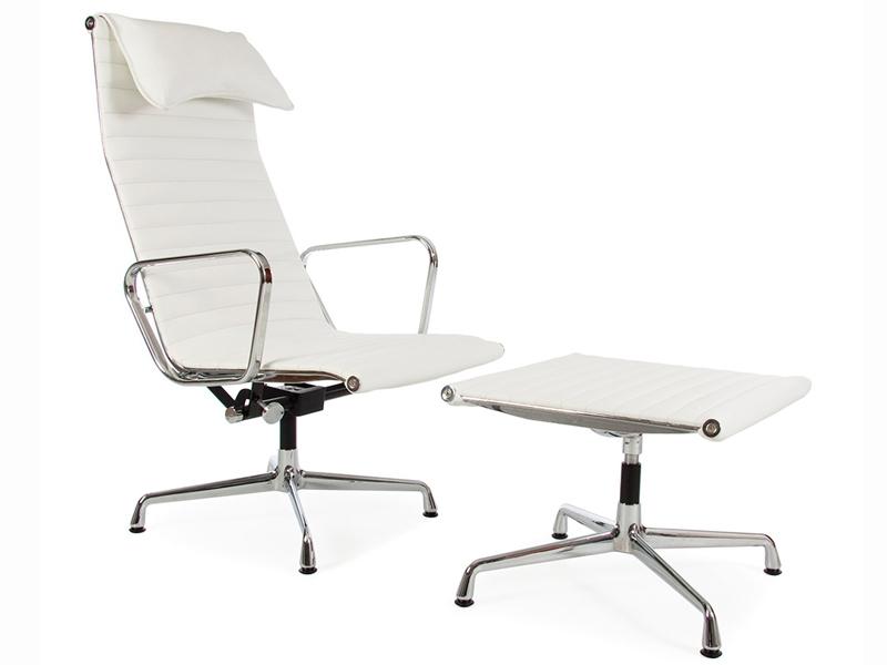 lounge stuhl ea124 wei. Black Bedroom Furniture Sets. Home Design Ideas