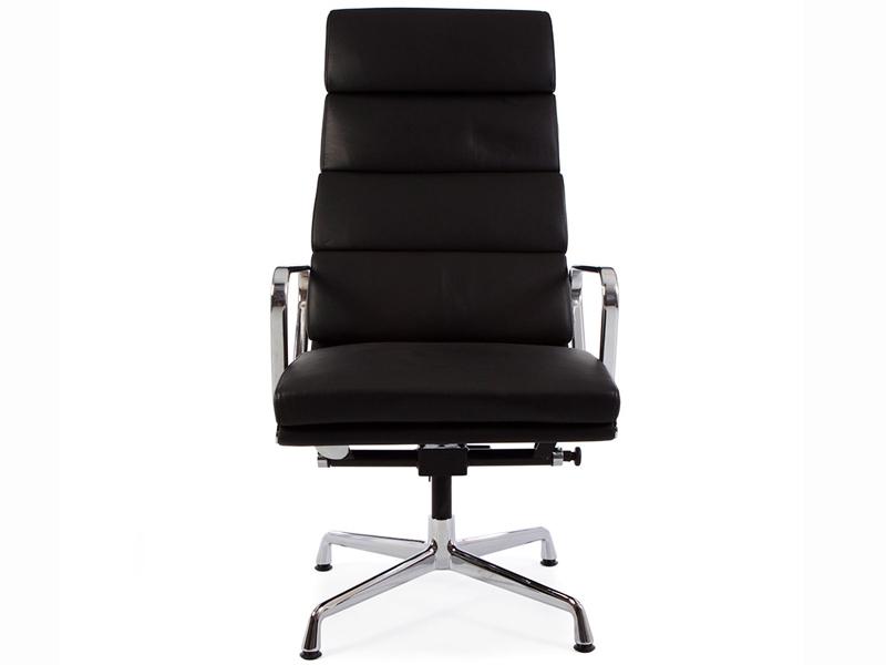 Lounge stuhl ea222 schwarz for Design lounge stuhl