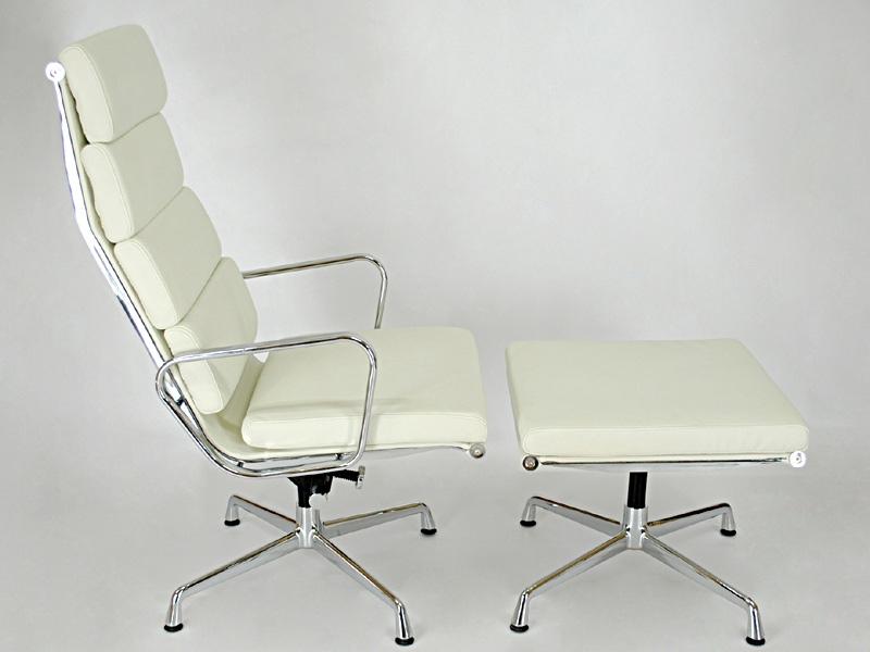 Bild von Stuhl-Design Lounge Stuhl EA222 - Weiß