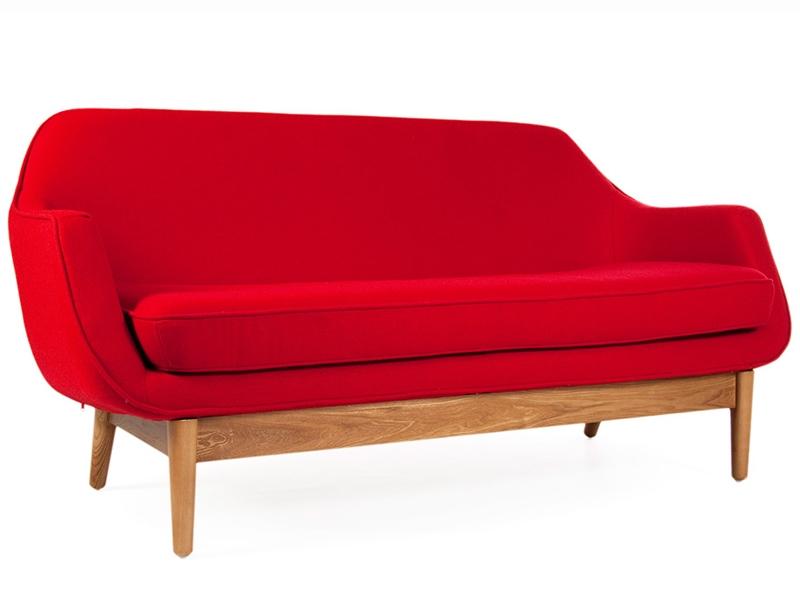 lusk sofa 2 sitzer rot. Black Bedroom Furniture Sets. Home Design Ideas