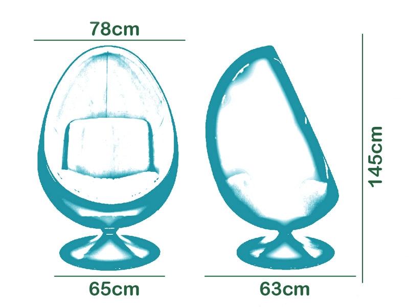 Bild von Stuhl-Design Ovaler Egg Sessel Aarnio - Schwarz