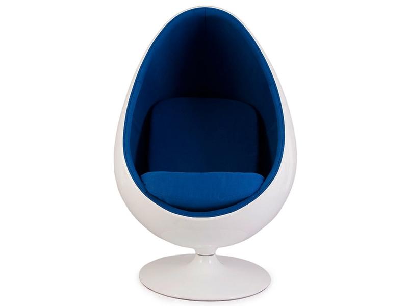 Bild von Stuhl-Design Ovaler Egg Sessel - Blau