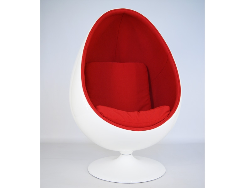 ovaler egg sessel rot. Black Bedroom Furniture Sets. Home Design Ideas