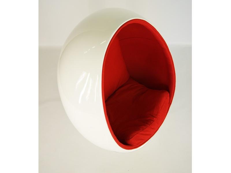 Ovaler Egg Sessel  Rot