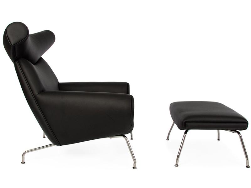 ox wegner sessel schwarz. Black Bedroom Furniture Sets. Home Design Ideas