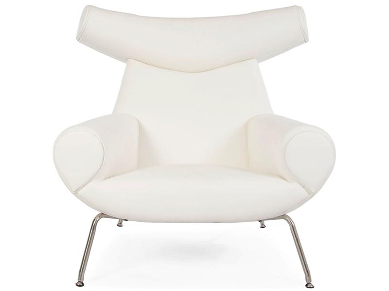 Bild von Stuhl-Design Ox Wegner Sessel - Weiß
