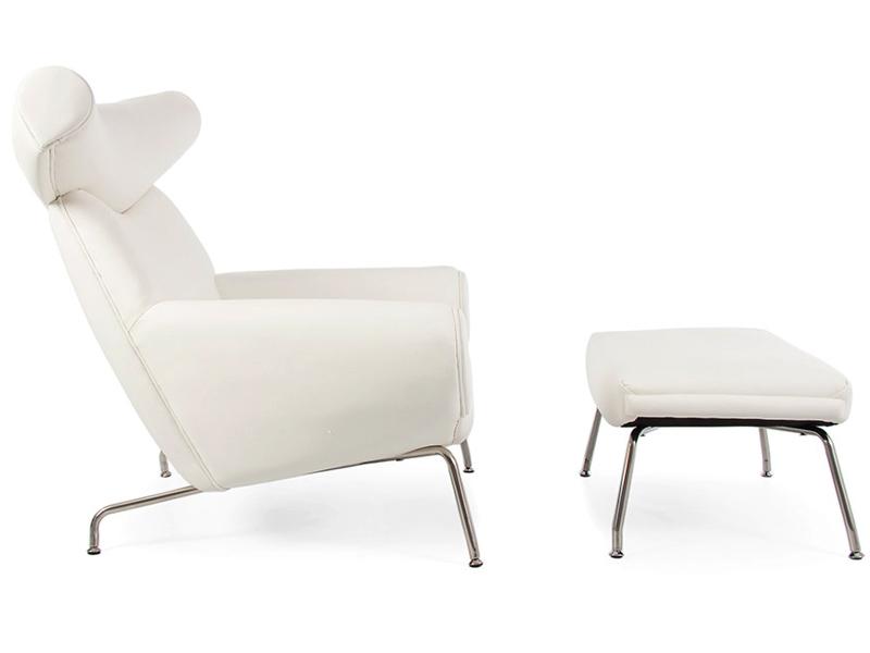ox wegner sessel wei. Black Bedroom Furniture Sets. Home Design Ideas