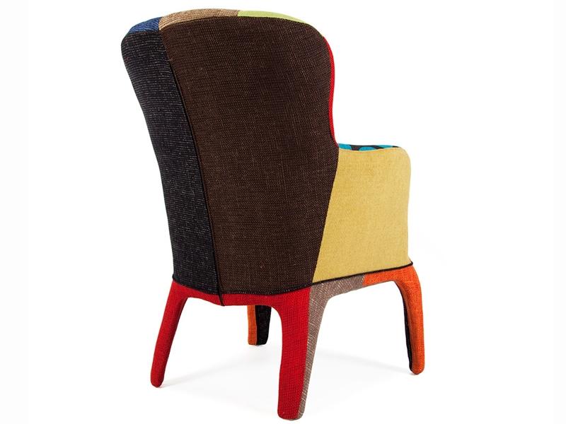 sessel henry polsterung patchwork. Black Bedroom Furniture Sets. Home Design Ideas