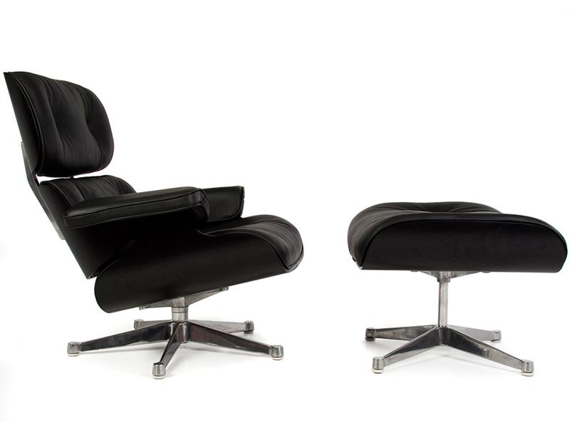 Bild von Stuhl-Design Spezialedition Eames Lounge - Schwarz