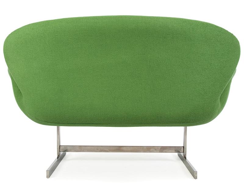 Bild von Stuhl-Design Swan 2 Sitzer Arne Jacobsen - Grün