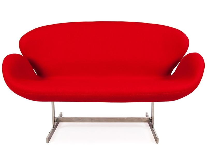 Bild von Stuhl-Design Swan 2 Sitzer Arne Jacobsen - Rot