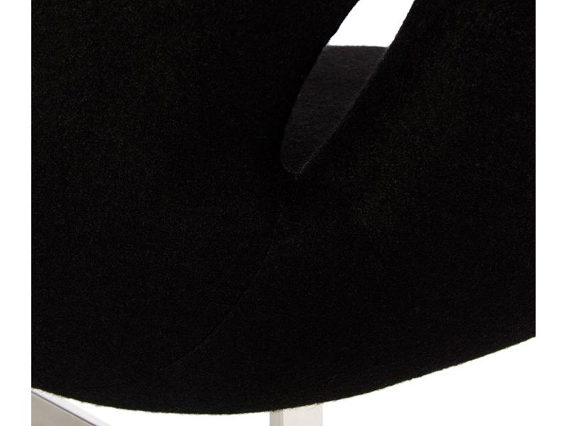 Bild von Stuhl-Design Swan 2 Sitzer Arne Jacobsen - Schwarz