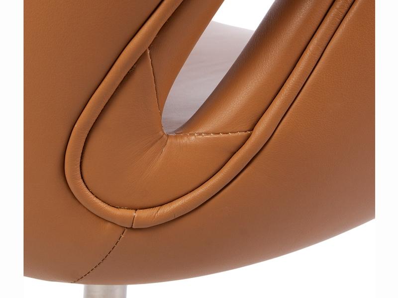 Bild von Stuhl-Design Swan Sessel Arne Jacobsen - Karamell