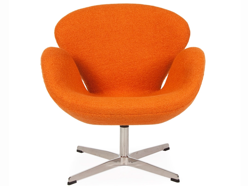 swan sessel arne jacobsen orange. Black Bedroom Furniture Sets. Home Design Ideas