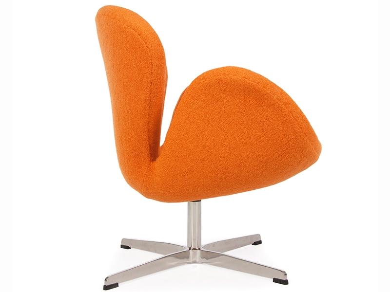 swan sessel arne jacobsen orange. Black Bedroom Furniture Sets. Home Design Ideas