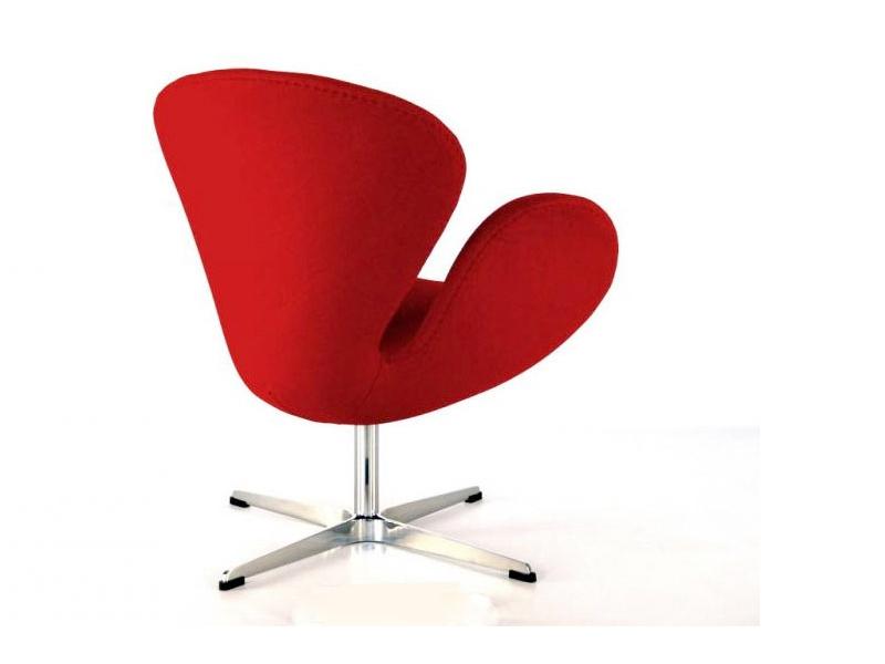 Bild von Stuhl-Design Swan Sessel Arne Jacobsen - Rot
