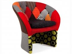 Bild von Stuhl-Design Bay Lounge Sessel - Patchwork