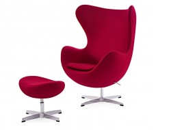 Bild von Stuhl-Design Egg Chair & ottoman Arne Jacobsen - Rot