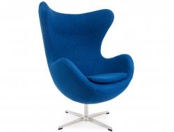 Bild von Stuhl-Design Egg Sessel Arne Jacobsen - Blau